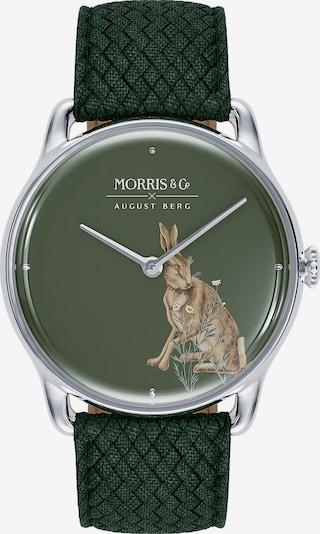 August Berg Analoog horloge 'MORRIS & CO Silver Green Perlon 38mm' in de kleur Groen, Productweergave