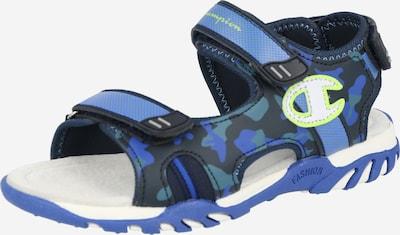 Champion Authentic Athletic Apparel Otvorene cipele 'FLORIDA' u plava / tamno plava / neonsko zelena / bijela, Pregled proizvoda