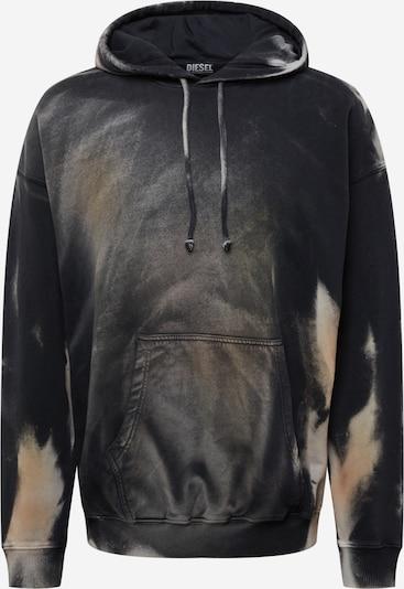 DIESEL Sweatshirt 'UMMERIB' i beige / sort / hvid, Produktvisning
