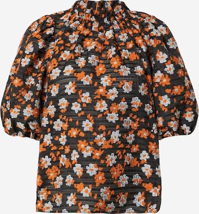 Hofmann Copenhagen Bluse 'Maude' in orange / schwarz / weiß, Produktansicht