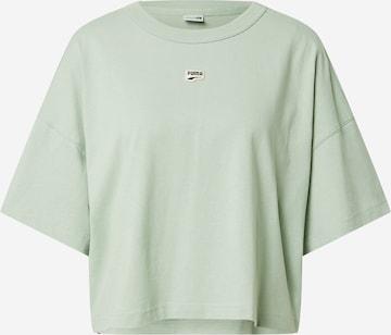 žalia PUMA Sportiniai marškinėliai 'PUMAxABOUT YOU'