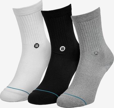 Stance Socken in graumeliert / petrol / schwarz / wollweiß, Produktansicht