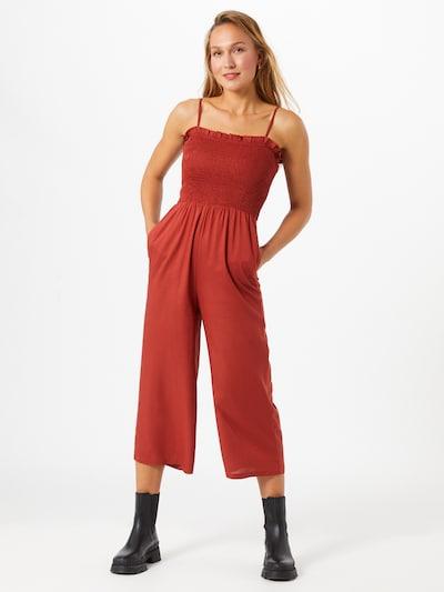 Kombinezono tipo kostiumas 'Melody' iš PIECES , spalva - pastelinė raudona, Modelio vaizdas