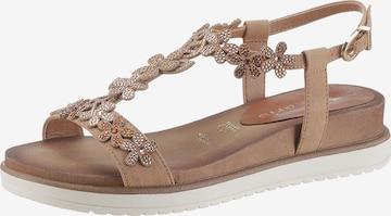 TAMARIS Strap Sandals in Beige