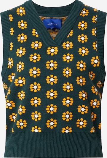 Résumé Pullover in gelb / smaragd / weiß, Produktansicht