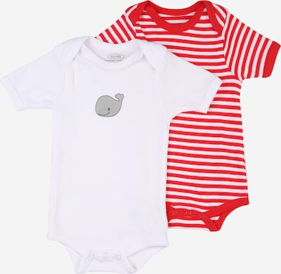 PLAYSHOES Body in grau / rot / weiß: Frontalansicht