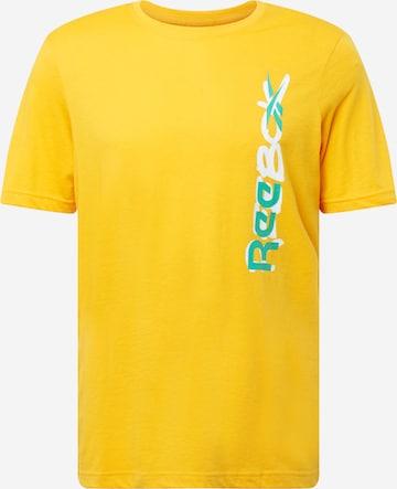 T-Shirt fonctionnel Reebok Sport en or