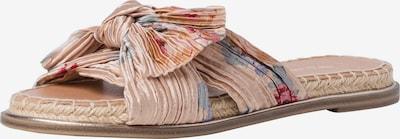 TAMARIS Pantolette in beige / hellblau / hellbraun / grün / eosin, Produktansicht