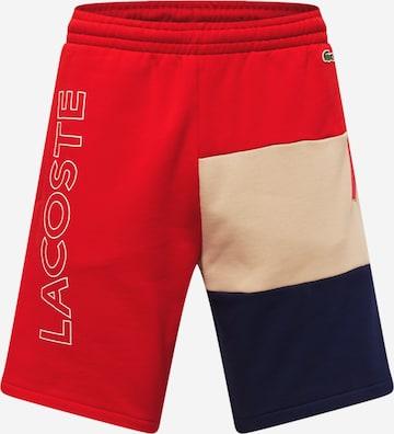 LACOSTE Püksid, värv punane