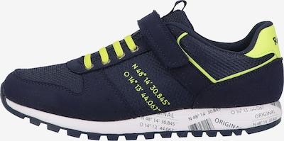RICHTER Sneaker in blau / neongelb, Produktansicht