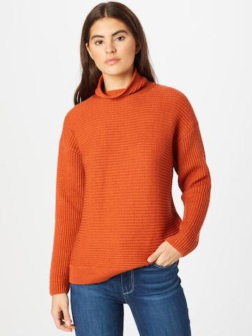 Folk Sweater 'Signal' in Orange