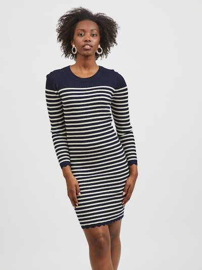 VILA Kleid 'Gabbi' in beige / navy, Modelansicht