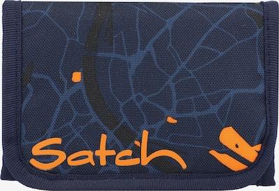 Satch Portemonnee in de kleur Donkerblauw / Sinaasappel, Productweergave