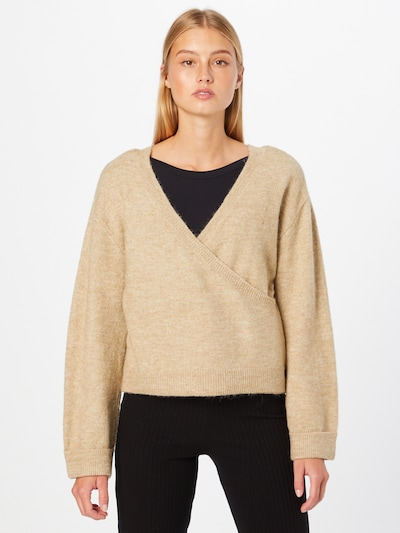 PIECES Sweater 'FANNA' in Beige, View model