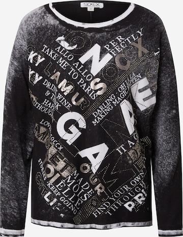 Soccx Sweater 'Oh La La Paris' in Black