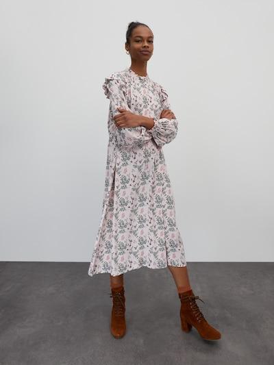 EDITED Kleid 'Matthea ' in grün / hellpink, Modelansicht