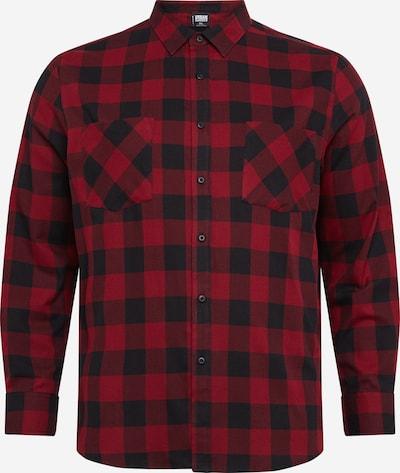 Urban Classics Big & Tall Hemd in burgunder / schwarz, Produktansicht