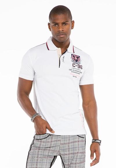 CIPO & BAXX Shirt 'CT475' in de kleur Wit: Vooraanzicht