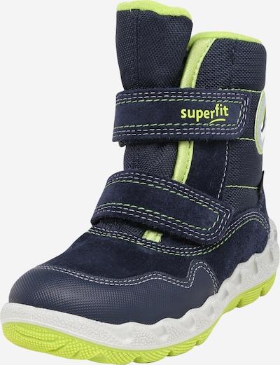 Sniego batai 'ICEBIRD' iš SUPERFIT , spalva - tamsiai mėlyna jūros spalva / šviesiai žalia, Prekių apžvalga