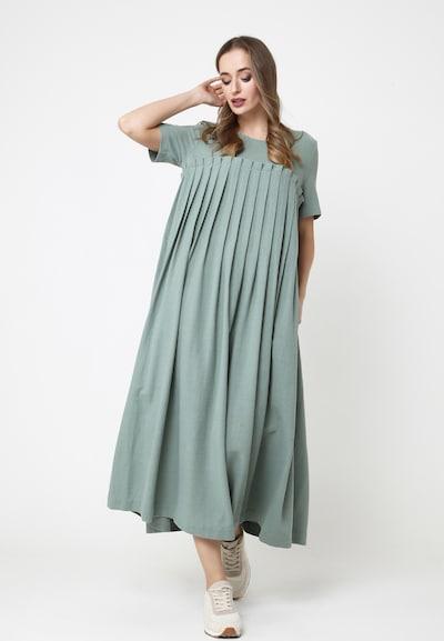 Madam-T MAXIKLEID 'SNURA' in grün, Modelansicht
