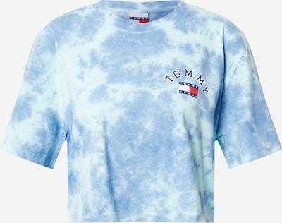 Tommy Jeans T-shirt en bleu / rouge / blanc, Vue avec produit