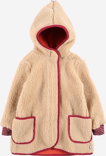 FINKID Fleece jas 'LIKKA NALLE' in de kleur Beige / Rood, Productweergave