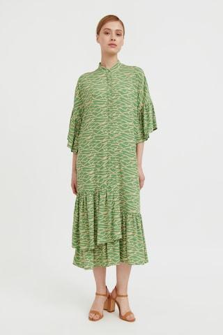 Finn Flare Summer Dress in Green