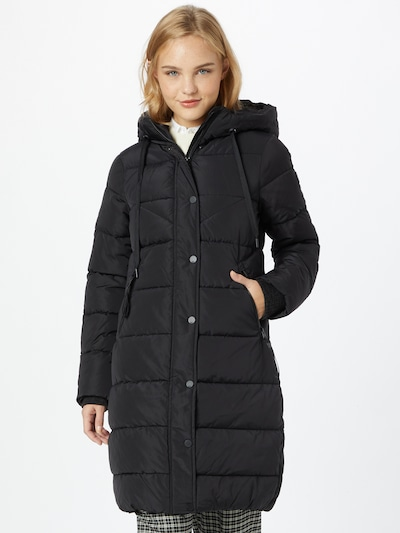 Q/S by s.Oliver Winter Coat in Black, View model