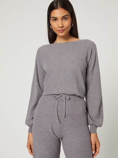 Guido Maria Kretschmer Collection Sweater 'Daliah' in Grey / mottled grey: Frontal view