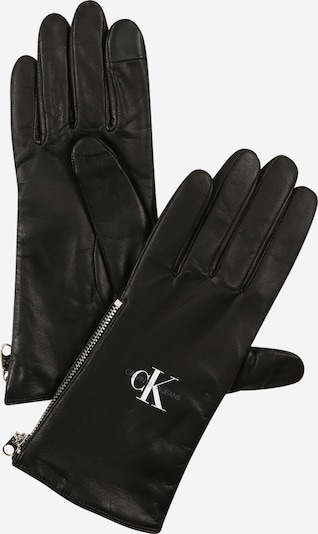 Calvin Klein Jeans Γάντια με δάχτυλα σε μαύρο / λευκό, Άποψη προϊόντος