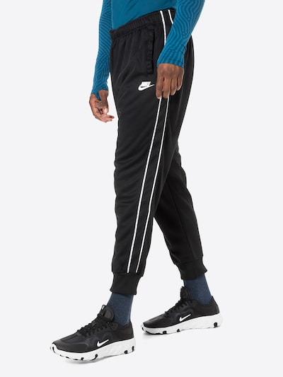 Nike Sportswear Nohavice 'Repeat' - čierna / biela, Model/-ka