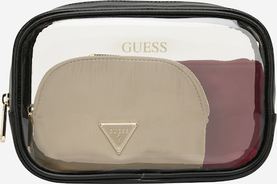 GUESS Trousse de maquillage 'ALL IN ONE' en beige / lie de vin / noir, Vue avec produit