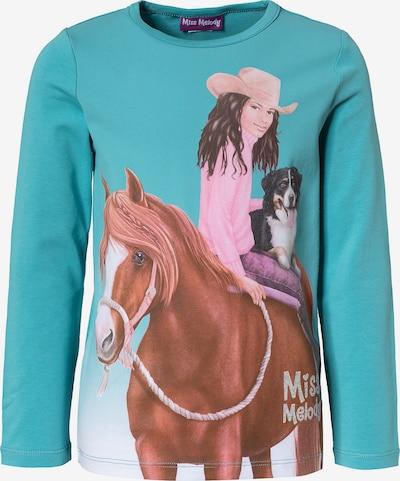 Miss Melody Shirt in türkis / mischfarben, Produktansicht
