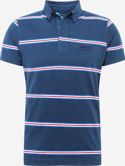 Superdry Poloshirt 'Academy' in marine / royalblau / rot / weiß, Produktansicht