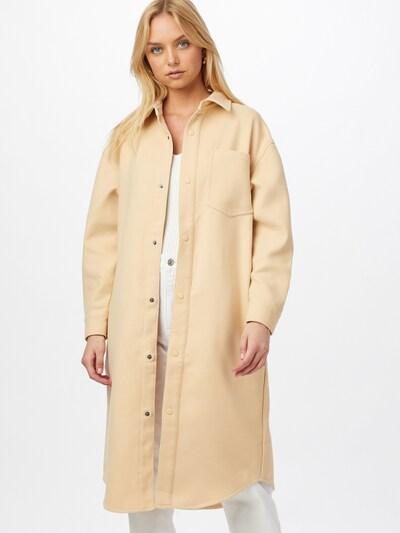 Palton de primăvară-toamnă NU-IN pe bej, Vizualizare model