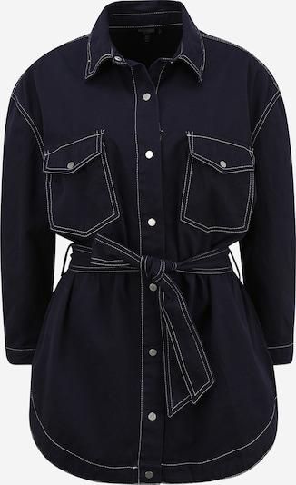 Missguided (Petite) Kleid in nachtblau / weiß, Produktansicht