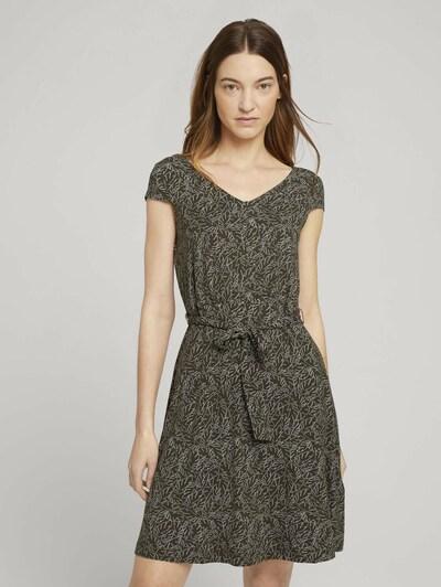 TOM TAILOR Sukienka w kolorze ciemnozielony / białym, Podgląd na modelu(-ce)