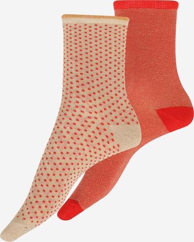 BeckSöndergaard Socken in beige / rot / orangerot, Produktansicht