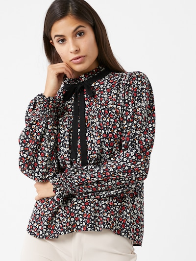 Bluză 'Victoriana' Miss Selfridge pe culori mixte / negru, Vizualizare model