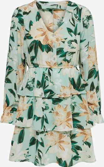 ONLY Kleid in creme / türkis / braun / grün / dunkelgrün / weiß, Produktansicht
