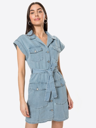 Boyish Blousejurk 'THE JOE SAFARI' in de kleur Blauw denim, Modelweergave