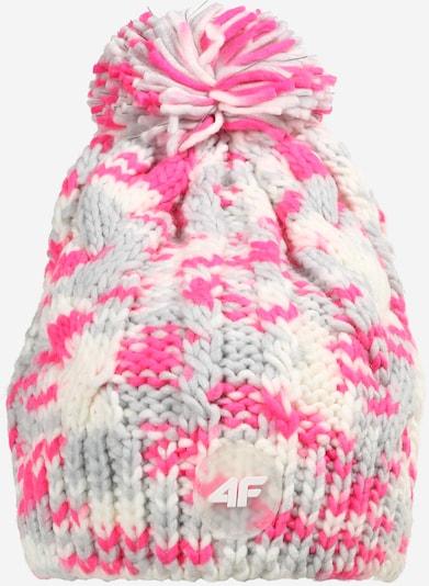 4F Sportovní čepice - krémová / světle šedá / pink, Produkt