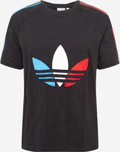 ADIDAS ORIGINALS T-Shirt en bleu clair / rouge / noir / blanc, Vue avec produit