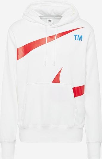 Bluză de molton Nike Sportswear pe albastru noapte / roșu / alb, Vizualizare produs