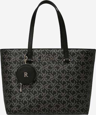 REPLAY Shopper in grau / schwarz, Produktansicht