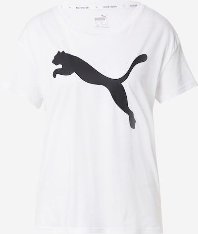 PUMA Sporta krekls, krāsa - melns / balts, Preces skats