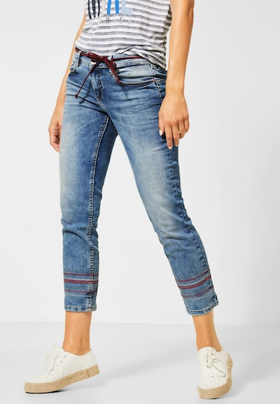 STREET ONE Denim in blue denim / burgunder: Frontalansicht