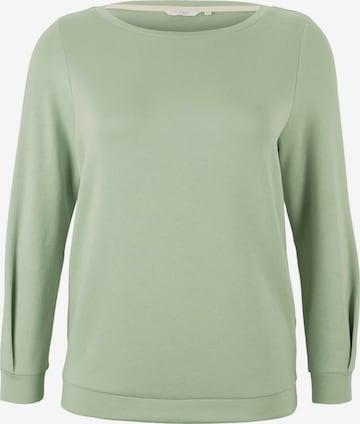 MY TRUE ME Sweatshirt in Green