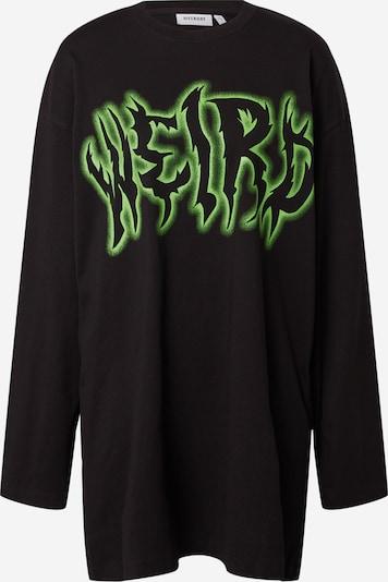 WEEKDAY T-shirt oversize 'Chrystanthe' en kiwi / noir, Vue avec produit