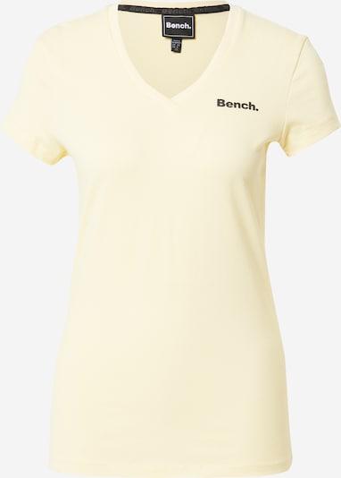 BENCH Shirt 'Rachel' in pastellgelb / schwarz, Produktansicht